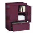 Two Shelf Storage Cabinet with File Drawer, 31215