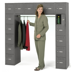 Antimicrobial Heavy-Duty 16-Person Box Locker Unit, 31922