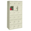 Antimicrobial Six Tier Box Locker Set - Three Wide, 31919