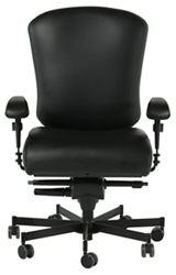 Dauerhaft 24/7 Leather Chair with Adjustable Arms, 57229