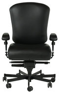 Dauerhaft 24/7 Leather Chair with Swing Arms, 57229