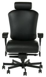 Dauerhaft 24/7 Faux Leather Chair with Headrest and Flip Arms, 57234