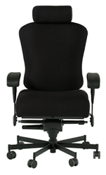 Dauerhaft 24/7 Fabric Chair with Headrest and Flip Arms, 57232