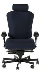 Dauerhaft 24/7 Fabric Chair with Headrest and Fixed Arms, 57231