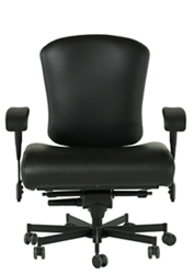 Dauerhaft 24/7 Wide Faux Leather Chair with Flip Arms, 57240