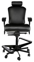 "Dauerhaft 24/7 Two-Step Leather Flip Arm Stool with Headrest - 23""W Seat, 57278"