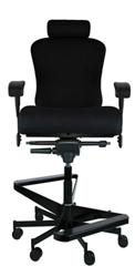 """Dauerhaft 24/7 Two-Step Fabric Flip Arm Stool with Headrest - 23""""W Seat, 57274"""