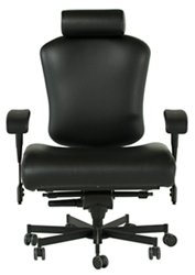 Dauerhaft 24/7 Wide Faux Leather Chair with Flip Arms, 57246