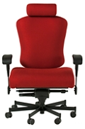 Dauerhaft 24/7 Wide Fabric Chair with Headrest and Flip Arms , 57244