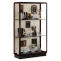 "48"" Wide Lighted Bronze Floor Case, 31567"