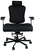 Dauerhaft 24/7 Bariatric Fabric Chair with Headrest , 57252