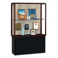 "48"" Wide Lighted Bronze Floor Case with Base, 31574"