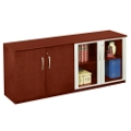 Storage Credenza with Wood and Glass Doors, 31671