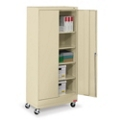 "36""W x 18""D x 79""H Mobile Combination Storage Cabinet, 31739"