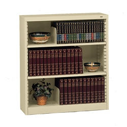 Heavy Duty Steel Bookcase with Three Shelves, 32624