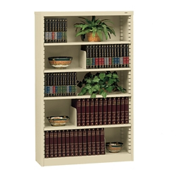 heavy duty steel bookcase with five shelves 32625 - Steel Bookshelves