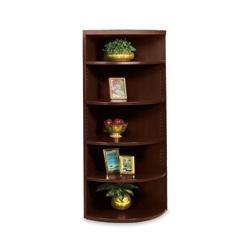 "67""H Five Shelf Corner Bookcase, 32870"