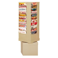 Revolving Literature Rack with 44 Magazine Pockets, 33048