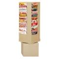 Revolving Literature Rack with 44 Magazine Pockets, 33048