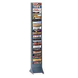 Wallmount Literature Rack with 23 Magazine Pockets, 33041
