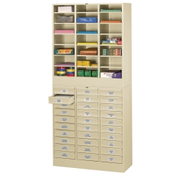 Letter Size Stackable 30 Drawer Cabinet With Literature Organizer 33361