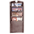 4-Pocket Wood Front Magazine Rack, 33374