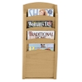4-Pocket Wood Front Magazine Rack, 33375