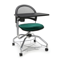 Mesh Back Tablet Arm Student Chair with Under-Seat Basket, 51727