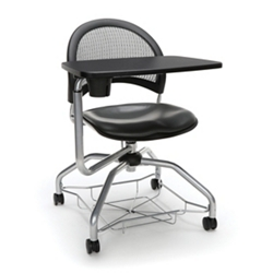 Mesh Back Vinyl Seat Tablet Arm Student Chair with Under-Seat Basket, 51729
