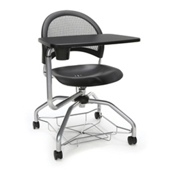 Mesh Back Plastic Seat Tablet Arm Student Chair with Under-Seat Basket, 51728