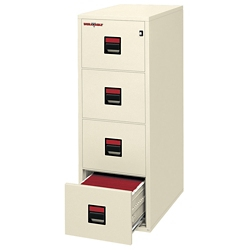 "Four Drawer Legal Size Vertical Fireproof File - 25""D, 34294"