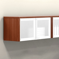 Wall Mounted Cabinet With Silver Doors 36 W