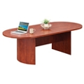 "96"" Oval Conference Table Top and Modesty Panel, 40042"