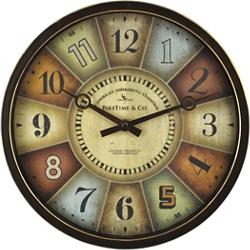 """Color Wheel 12"""" Wall Clock, 86448"""