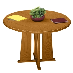 "Contemporary Round Conference Table - 48"" Diameter, 40418"