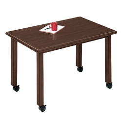"Rectangular Conference Table with Casters - 48"" x 30"", 40517"