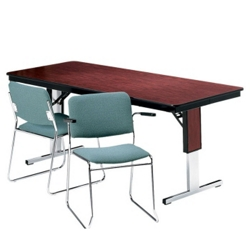 "Adjustable Height Folding Conference Table - 72"" x 18"", 40543"