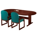 "Oval Conference Table - 120"" x 46"", 40629"