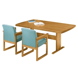 "Rectangular Conference Table with Curved Ends - 120"" x 46"", 40633"
