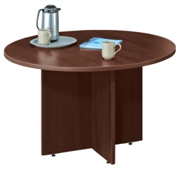 Round Conference Room Tables Shop Pedestal Tables For Executive - Round wood conference table