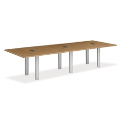 12' W Conference Table with Data Ports, 40950