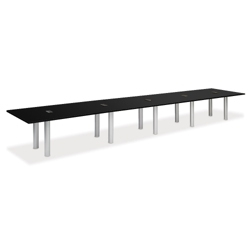 20' W Conference Table with Data Ports, 40952