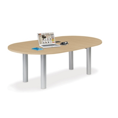 6u0027 W Racetrack Conference Table With Data Ports, 40954