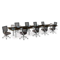 20' Conference Table with 10 Mesh Chairs, 40976