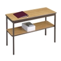 "Fixed Leg Utility Table with Lower Shelf - 18"" x 30"", 41072"