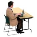 "Heavy-Duty Rectangular Folding Table  - 24"" x 72"", 41089"