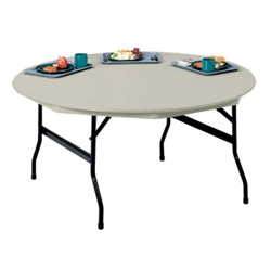 "Lightweight Round Folding Table - 72"" Diameter, 41140"