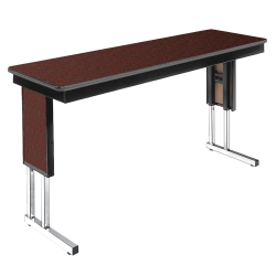 "Adjustable Height Folding Leg Seminar Table - 72"" x 20"", 41195"