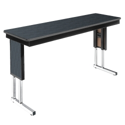 "Adjustable Height Folding Leg Seminar Table - 60"" x 20"", 41194"