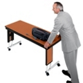 "Adjustable Height Folding Leg Seminar Table - 96"" x 24"", 41199"